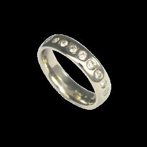 Ross Haynes Designs style: 701 CF Gypsy set diamonds