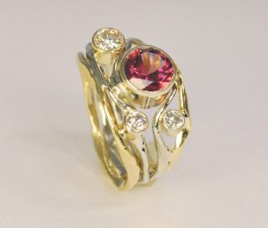 Ross Haynes Designs style: 727 Ruby and diamonds
