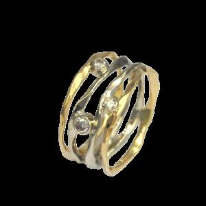 Ross Haynes Designs style: 727 Yellow/white with diamonds